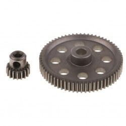 11184 Steel Metal Main Gear Motor Pinion Gears 17T/64T for 1:10 RC HSP 94111 94123 94111 PRO RC Truck