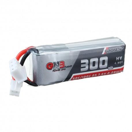 Gaoneng GNB 7.6V 300MAH 50C 2S HV 4.35V PH2.0 Lipo Battery for Emax TinyhawkS FPV Racing Drone