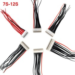 Balance Lead 7S 8S 9S 10S 11S 12S Lipo Battery Charge Wire with XH2.54 Head 20CM 22AWG Silicone Cable JST-XH Plug