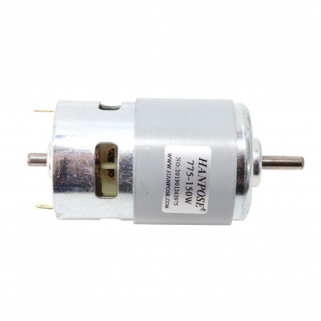 HANPOSE 775 Motor DC 12V 150W DC Motor Large Torque High Power DC Motor Double Ball Bearing Spindle Motor - 12000RPM