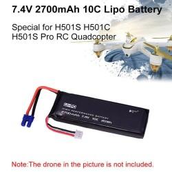 7.4V 2700mAh 10C Battery for Hubsan H501S H501A H501M H501C X4 RC Quadcopter Spare Parts