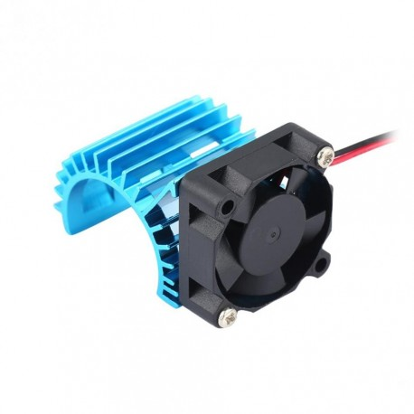Motor Cooling Heat Sink With Cooling Fan for 1/10 Scale Electric RC Car Heatsink Top Vented 380 / 390 Motor