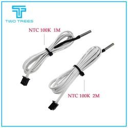 3D Printer Parts 1M/2M HT-NTC100K Thermistor Temperature Sensor for High Temperature Filament 350 Degrees NTC100K