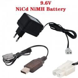 Charger for NiCd NiMH battery Input 100v-240v Output 7.2v 250ma with Tamiya Plug