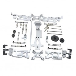 17pcs Kit RC Car Steering Cup Front Rear Swing Arm for 1/14 WLtoys 144001 RC Car Upgrade Spare Parts Accessories