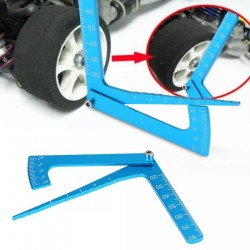 3 In 1 Height Gauge Ruler Aluminum Metal Parts Wheel RC Road Car Set Up Tool Chassis Camber Ride Dip Angle Suspension