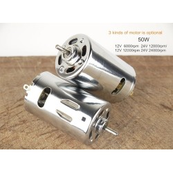 1PCS 550 555 Double ball bearing Motor DC 12V - 24V 50W high power
