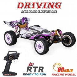 Wltoys 124019 1/12 2.4GHz Racing RC Car 60km/h Off-Road Drift Car RTR 4WD with Aluminum Alloy Chassis Zinc Alloy Gear