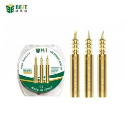 New design special pointed 3 tips/set BEST Solder Iron Tips Static Elimination I IS K Welding Head Soldering Tips