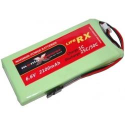 ManiaX 2100mAh 6.6V 25C LiFePO4 RX
