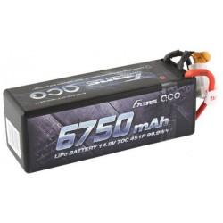 Gens ace 6750mAh 14.8V 70C 4S1P HardCase Lipo Battery 14 with XT90 Plug