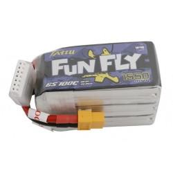 Tattu Funfly Series 1550mAh 22.2V 100C 6S1P Lipo Battery Pack with XT60 Plug