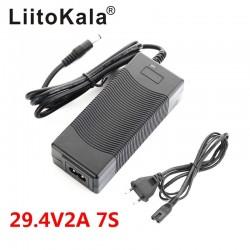 LiitoKala 29.4V2A 18650 Lithium Battery Charger DC 5.5*2.1mm