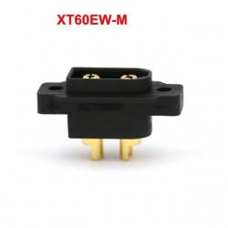 XT60EW-M Brass Gold Plated Battery Plug Fixed Black