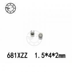 681XZZ deep groove ball bearing 1.5x4x2mm miniature bearing
