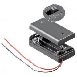 Goobay 12443 Battery box 2x AA Cable