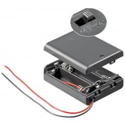 Goobay 12445 Battery box 3x AA Cable