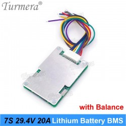 7S 24V 20A BMS Protection Board Balance Circuit For 18650 Li-ion Lithium Battery Cell