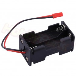 Hobbypark 4 Cell AA Battery Holder Case Box with JR Style Connector, JST Connector, and Wire Leads