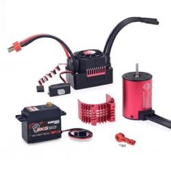 SURPASS HOBBY KK 3650 Brushless Motor 4500KV 60A Brushless ESC 6KG Metal Gear Digital Servo RC Car Parts