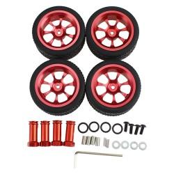 4PCS 65mm Wltoys 124019 124018 144001 RC Car Wheel Metal Rim Extension Adapter Upgrade Parts