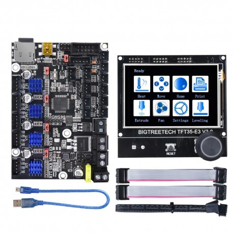 BIGTREETECH® SKR Mini E3 V2 Board With TMC2209 Driver+TFT35 E3 V3.0 Touch Screen Set Kit For Ender 3 Pro Ender 5