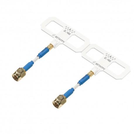 2 Pcs BETAFPV ExpressLRS ELRS 2.4GHz 868/915MHz 5.5dbi High Gain Moxon Antenna for RC Radio and TX Module