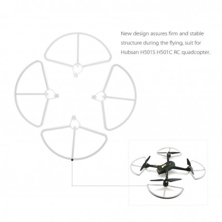 4pcs Drone Propeller Protectors Protective Guard for Hubsan H501S H501C H501E Quadcopter grand
