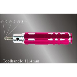 S641 BALL END reamer (Toolhandle H14-60mm) 4.0mm