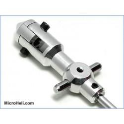 InnerShaft w/ Al Rotor Hub (SILVER) -Blade CX/Cx2/CX3/Lama 2/3/4