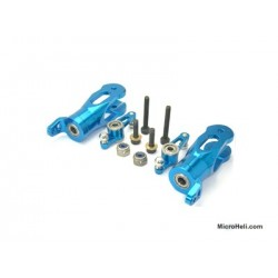 MicroHeli CNC Blade Grips w/Mixing Arms (BLUE) - Blade SR/PRO